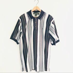 Vintage Striped Polo Shirt
